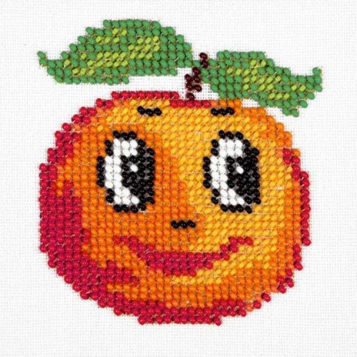 Набор для вышивания бисером LOUISE арт. L434 Апельсин 11х11 см