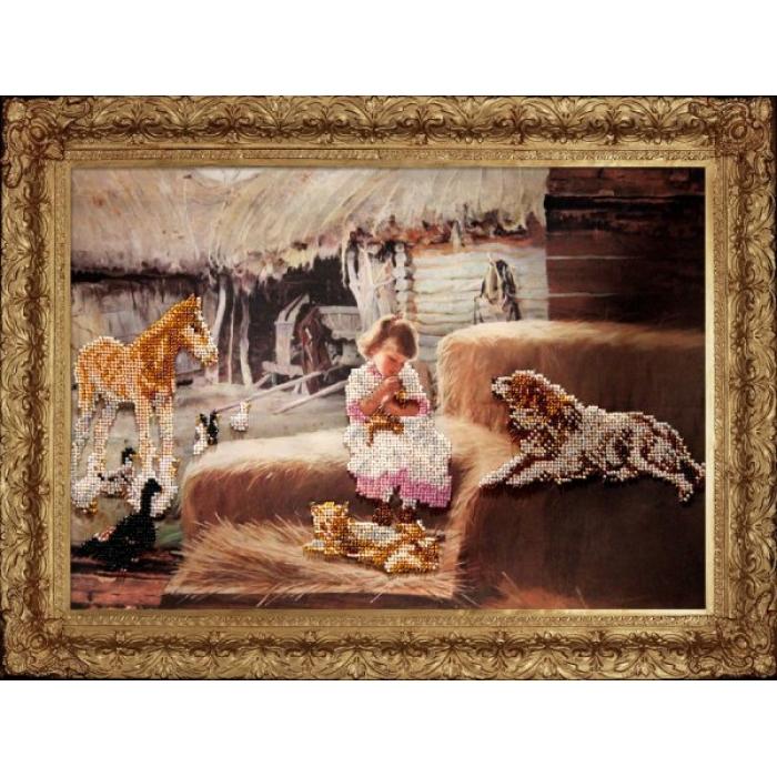 Набор для вышивания бисером КРАСА И ТВОРЧЕСТВО арт.90511 Маленькое счастье 39х27,5 см