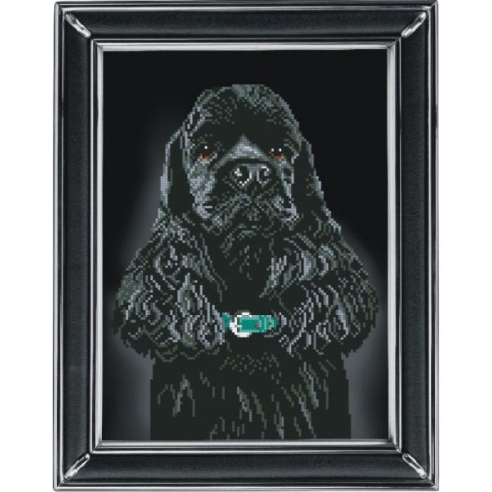 Набор для вышивания мулине КРАСА И ТВОРЧЕСТВО арт.30811 Американский кокер 1 21,8х29,7 см