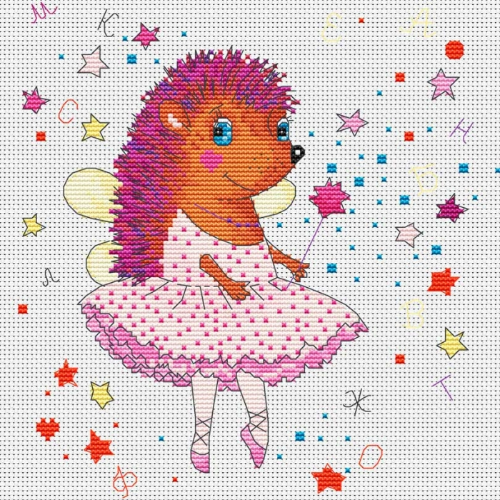 Набор для вышивания нитками БЕЛОСНЕЖКА арт.БЛ.179-14 Балерина 27х27см