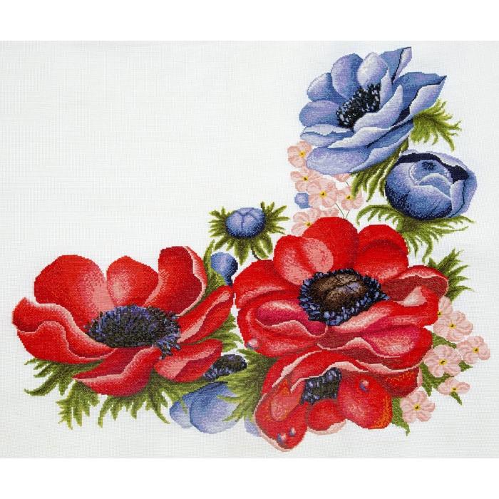 Набор для вышивания ИВАНКА арт.0-05 Анемоны 50х50 см