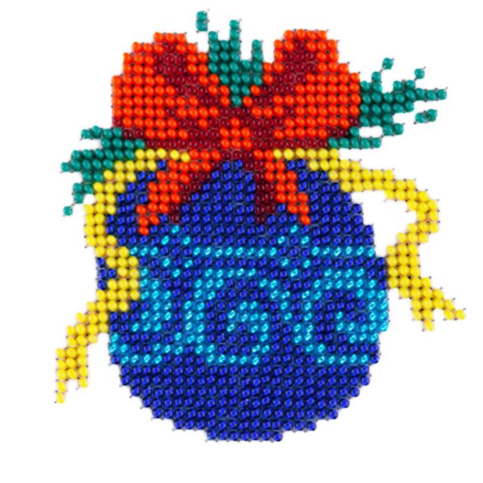 Набор для вышивания бисером LOUISE арт. L417 Елочная игрушка 11х11 см