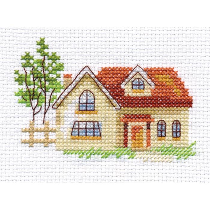 Набор для вышивания АЛИСА арт.0-152 Солнечный домик 9х6 см