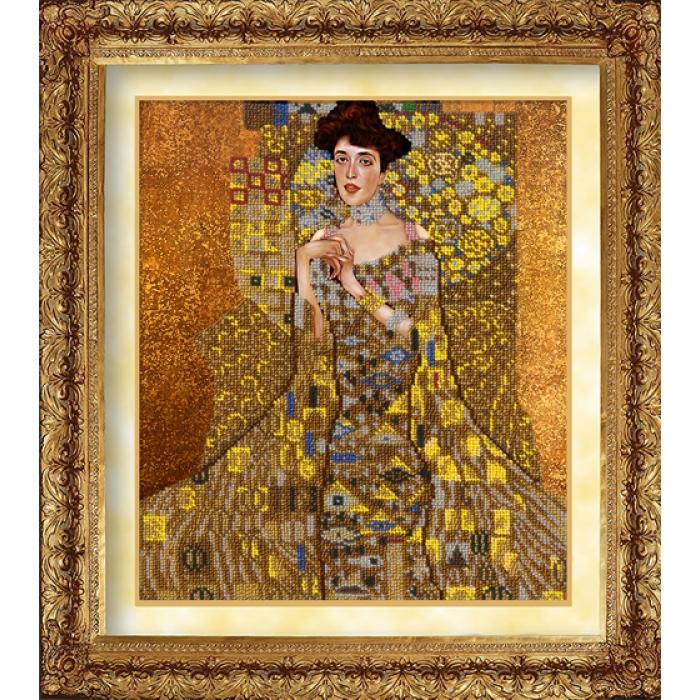 Набор для вышивания бисером РУССКАЯ ИСКУСНИЦА арт.1032 Адель 31х26 см