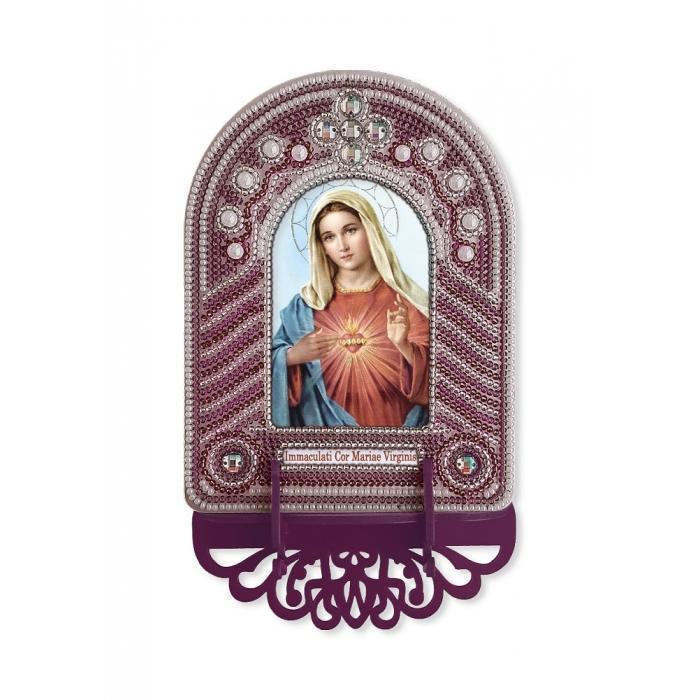 Набор для вышивания бисером НОВА СЛОБОДА арт.ВК1025 Непорочное Сердце Марии 10х13 см