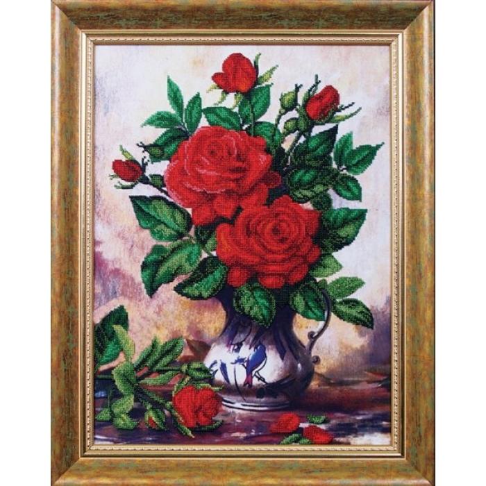 Набор для вышивания бисером МАГИЯ КАНВЫ арт.Б012 Королевский букет 32х43,5 см