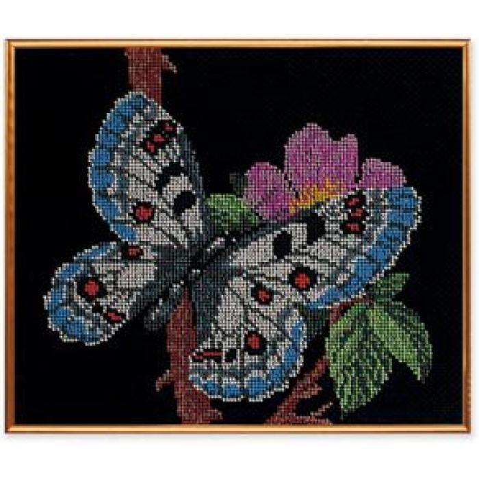 Набор для вышивания бисером КРОШЕ арт. В-136 Порхающая красавица 24х28 см