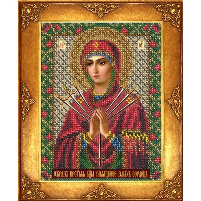 Набор для вышивания бисером РУССКАЯ ИСКУСНИЦА арт.240 БИ Богородица Умягчение злых сердец 12,5х16,3 см