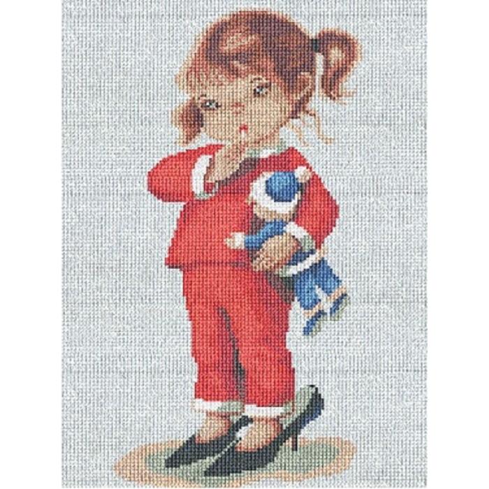 Набор для вышивания мулине НИТЕКС арт.0064 Модница 18х25 см