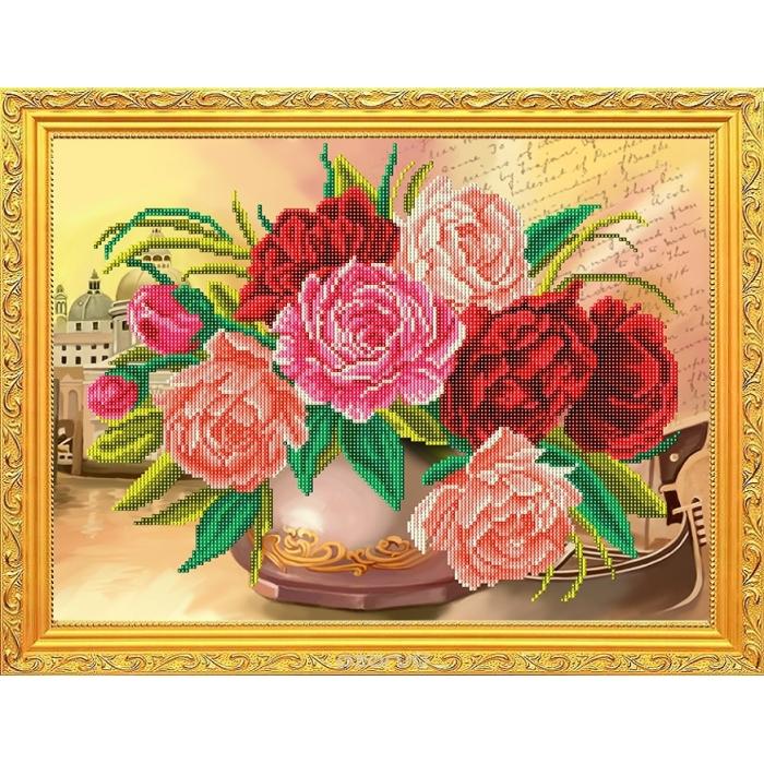 Рисунок на габардине СЛАВЯНОЧКА арт. КС-3046 Красивейший букет Венеции 28х38 см