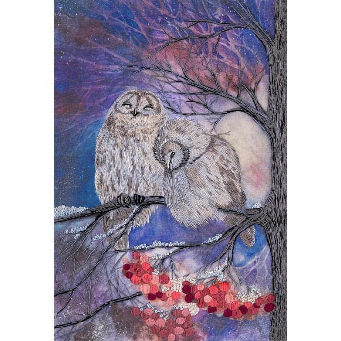 """Набор для вышивания PANNA """"Живая картина"""" арт. JK-2111 Совы-сплетницы 25,5х18 см"""