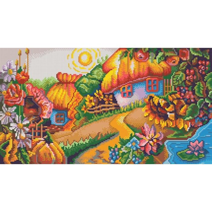 Рисунок на канве КОНЁК арт. 7813 Хуторок 25х45 см