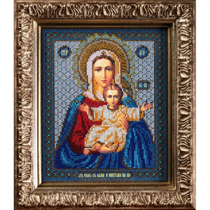 Набор для вышивания бисером КРОШЕ арт. В-156 Богородица Леушинская 21x25 см