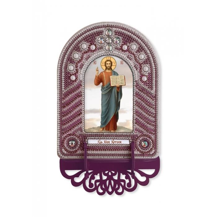 Набор для вышивания бисером НОВА СЛОБОДА арт.ВК1005 Господь Иисус Христос 10х13 см