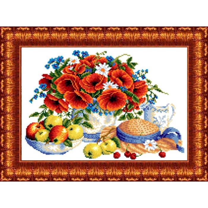 Канва с нанесенным рисунком КАРОЛИНКА арт. КК-037 Летние дары 23х30 см