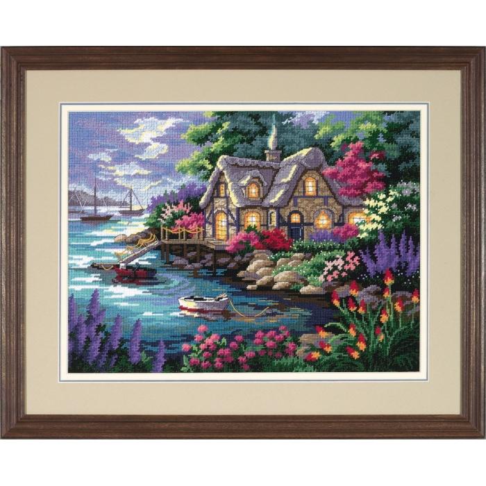 Набор для вышивания DIMENSIONS арт.DMS-12155 Дом на берегу бухты 41х30 см