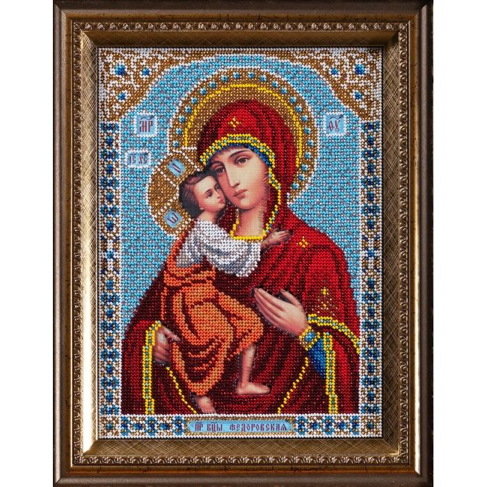 Набор для вышивания бисером КРОШЕ арт. В-198 Федоровская Богородица 19х27 см