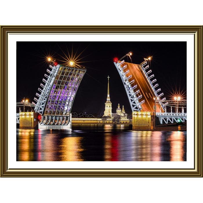 Набор для вышивания бисером НОВА СЛОБОДА арт.ДК1105 Санкт-Петербург 35,5х37,5 см