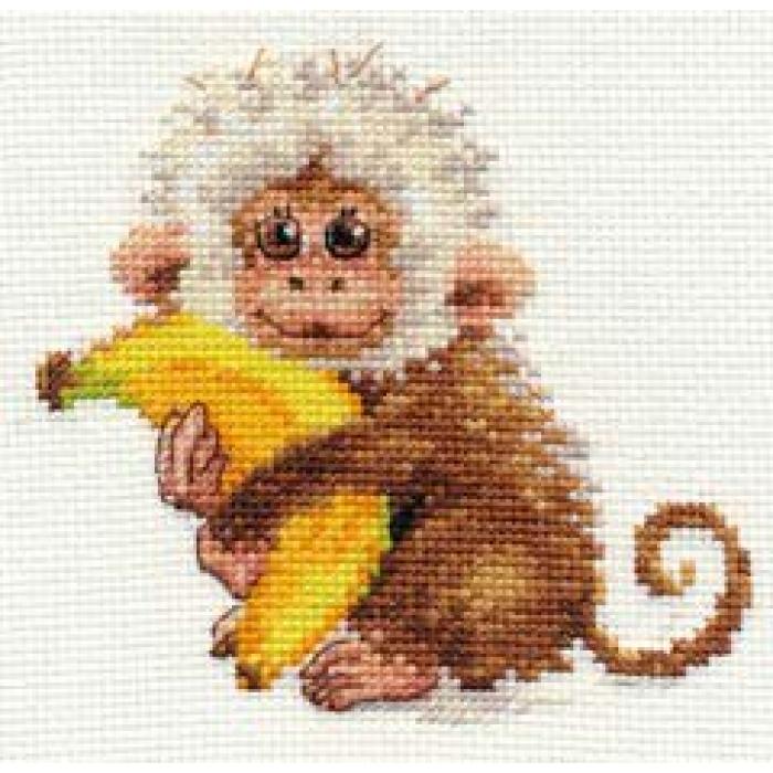 Набор для вышивания АЛИСА арт.0-127 Обезьянка 12х11 см