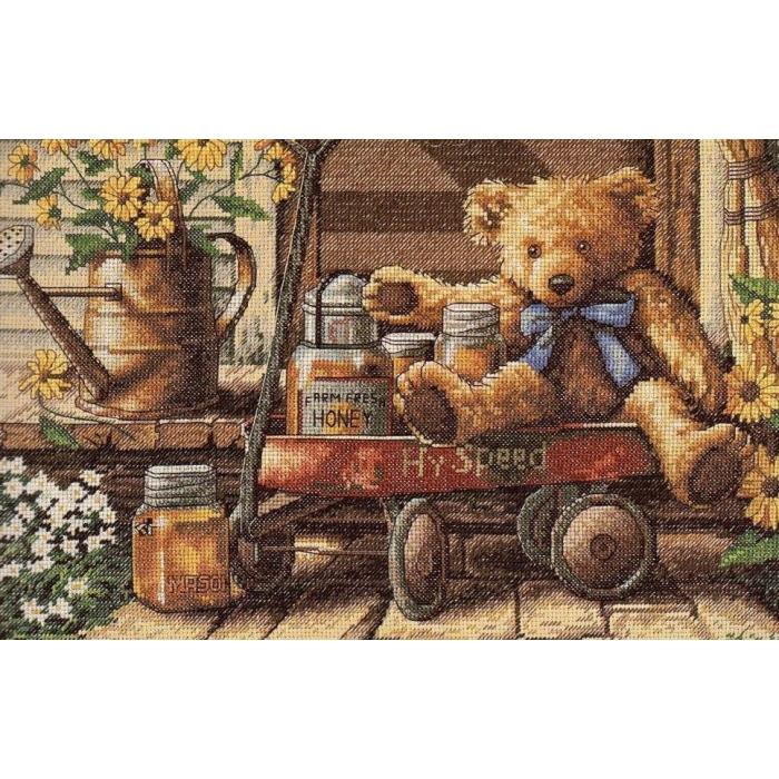 """Набор для вышивания Classic Design арт.4335 """"Медовый мишка"""" 35х22 см"""