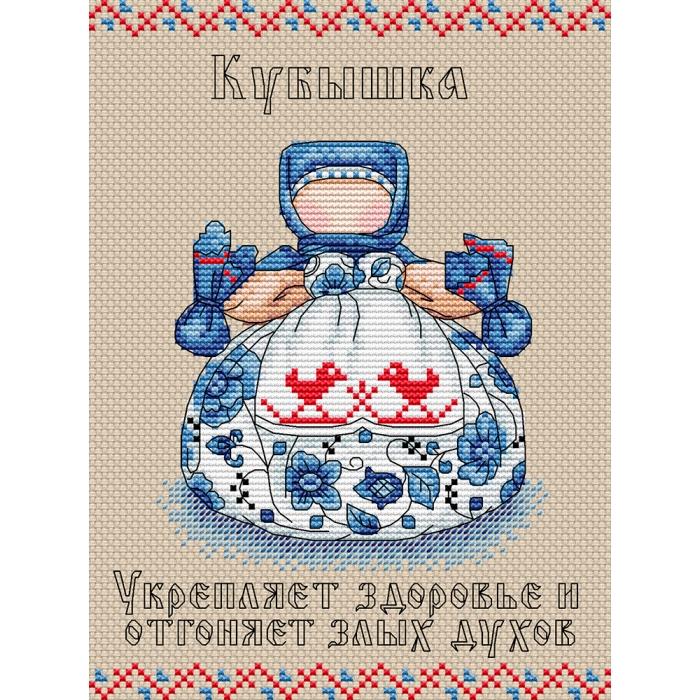 Набор для вышивания ЖАР-ПТИЦА арт.М-112 Славянский оберег. Кубышка 16х21 см