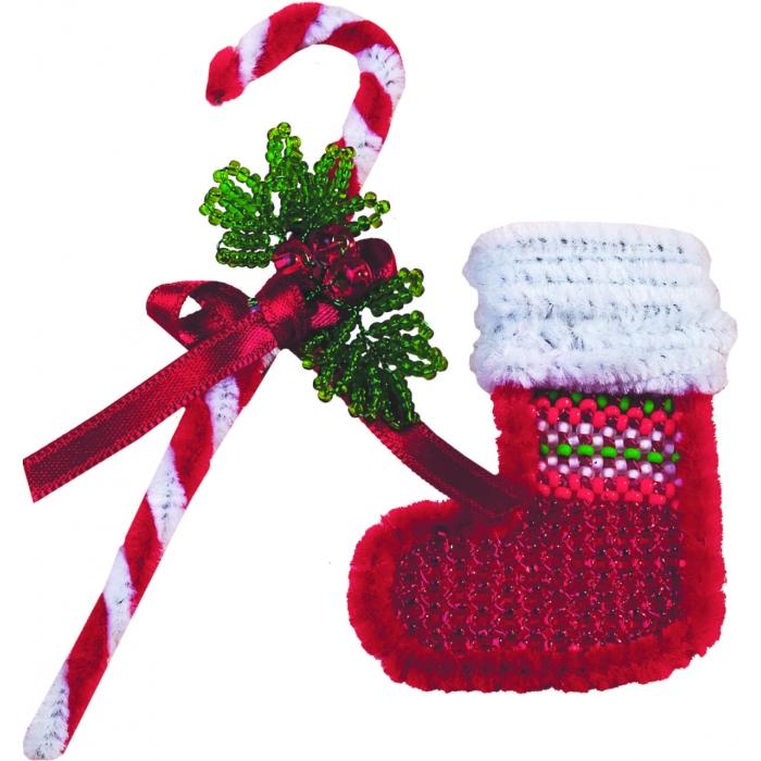 Набор для бисероплетения ЧАРИВНА МИТЬ арт.БП-40 Merry Christmas 4х12 см