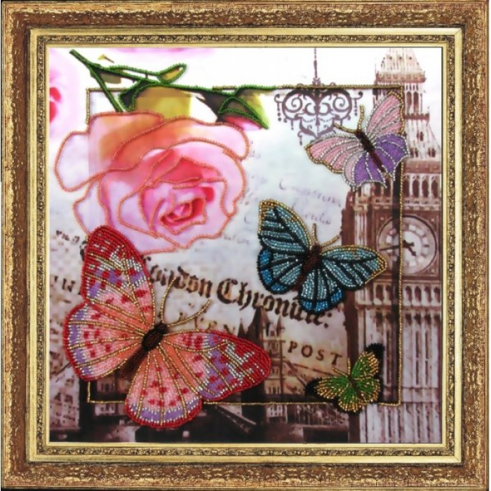 Набор для вышивания BUTTERFLY арт. 109 Привет из Лондона 26х26 см