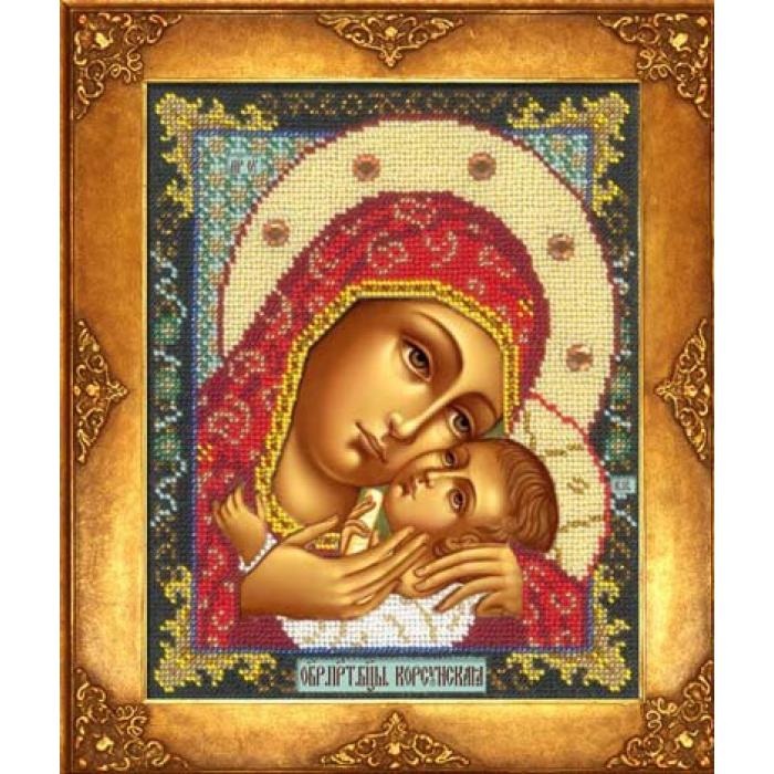 Набор для вышивания бисером РУССКАЯ ИСКУСНИЦА арт.302 БИ Богородица Корсунская 18х22,5 см