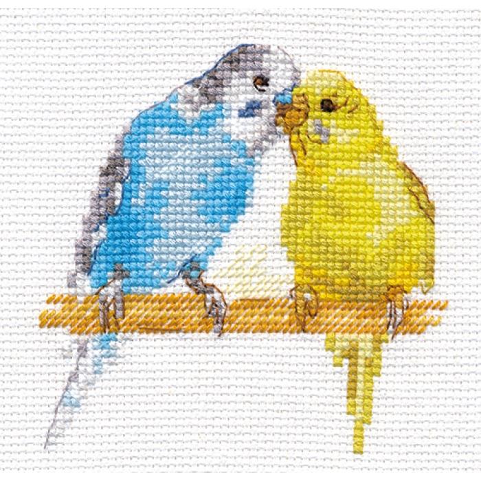Набор для вышивания АЛИСА арт.0-176 Попугайчики 8х8 см