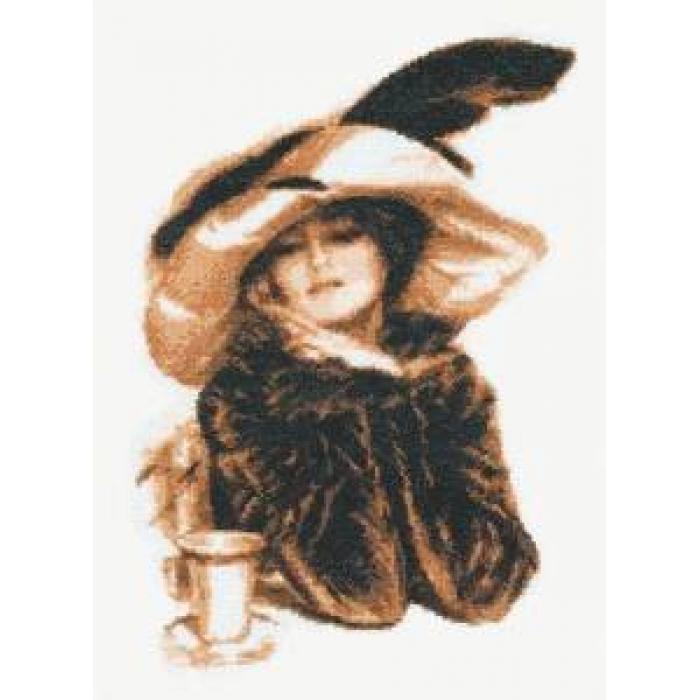 Набор для вышивания ПАЛИТРА арт.07.005 За чашкой чая 20х29 см