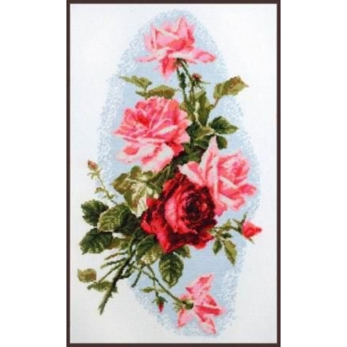 Набор для вышивания ПАЛИТРА арт.01.012 Розовый шик 24х41 см