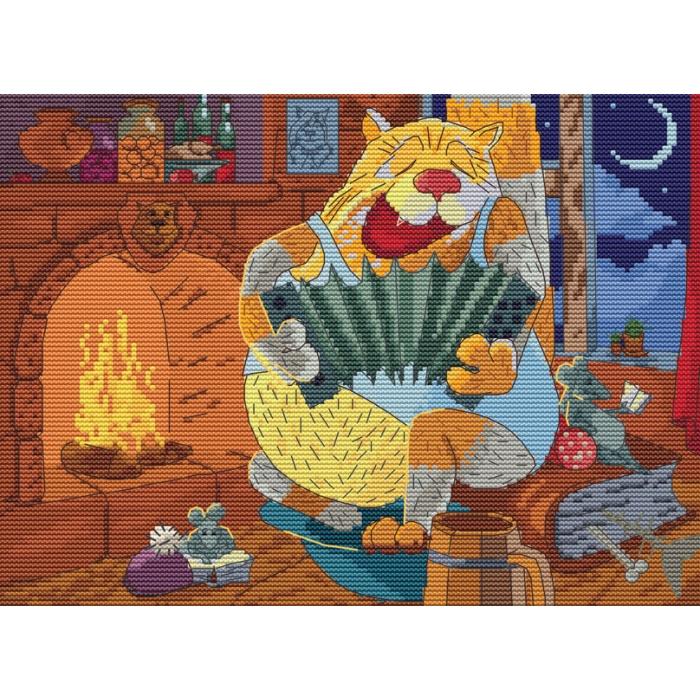 Набор для вышивания нитками БЕЛОСНЕЖКА арт.БЛ.180-14 Василич 20х27,5см