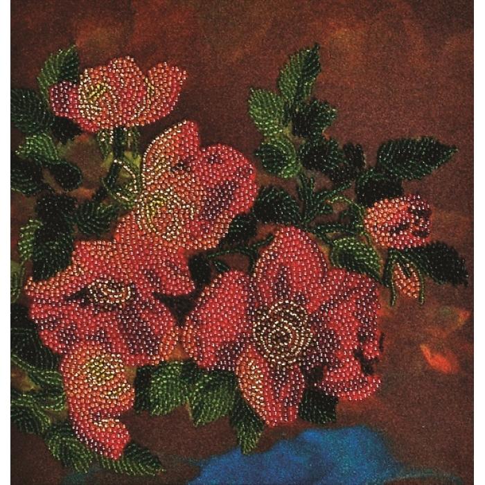 Набор для вышивания бисером АЛИСЕНА арт.ВН1026 Шиповник 20х21 см