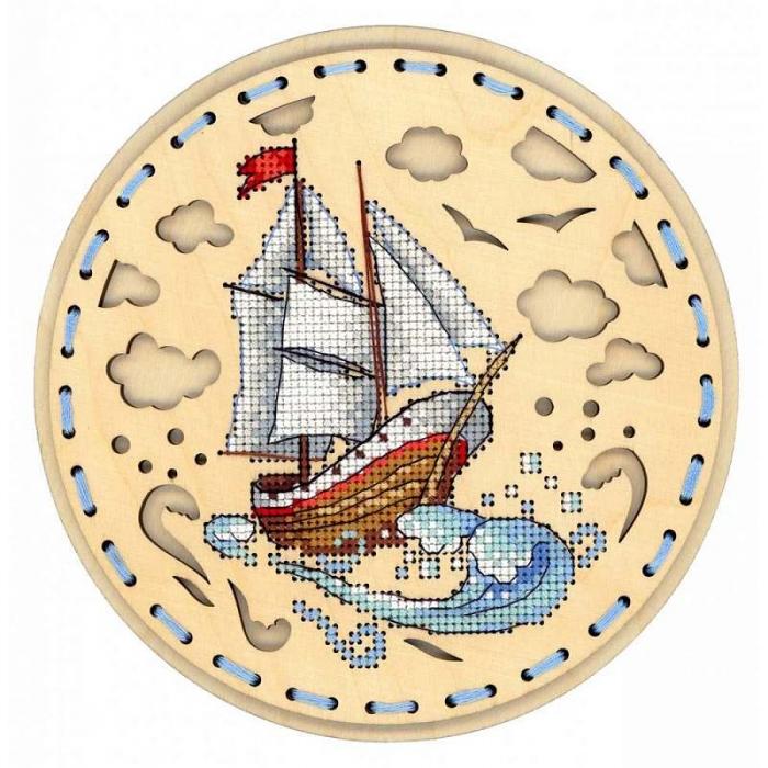 Набор для вышивания Щепка арт.О-022 Навстречу ветру 18х18 см