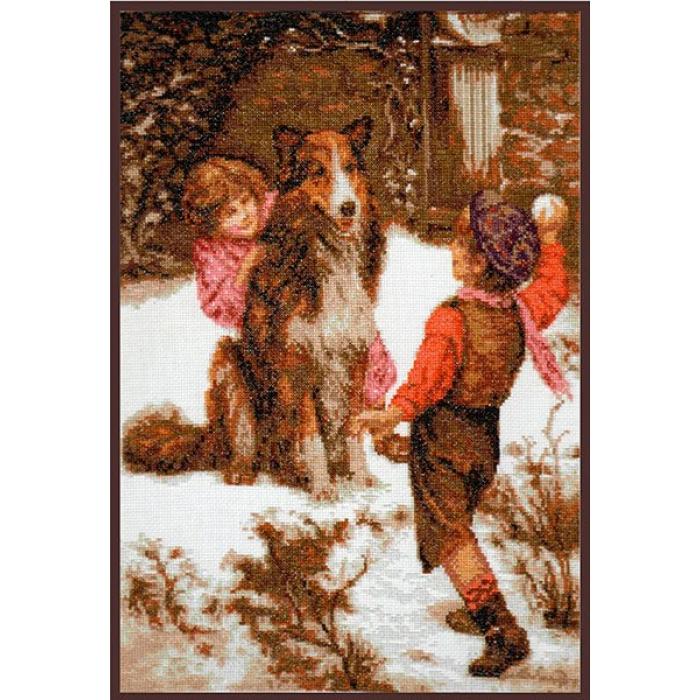 Набор для вышивания ПАЛИТРА арт.07.002 Первый снег 25х37 см