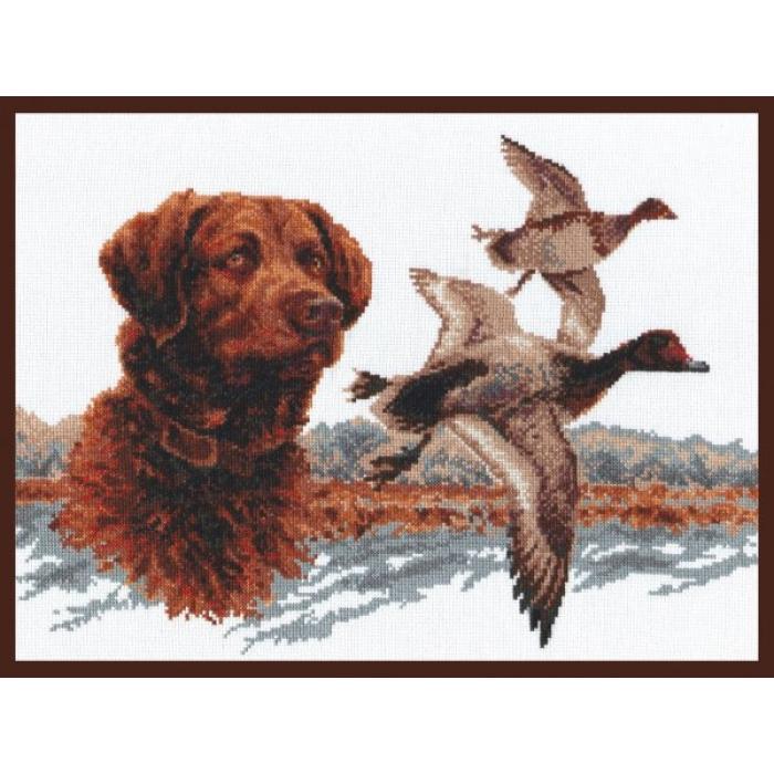 Набор для вышивания ПАЛИТРА арт.03.003 Охота на уток 39х29 см