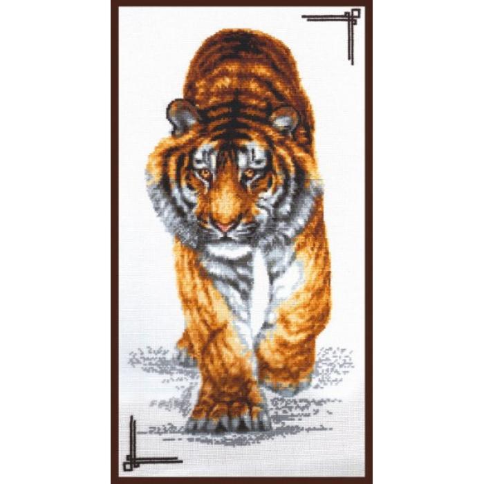 Набор для вышивания ПАЛИТРА арт.02.002 Поступь тигра 25х47 см