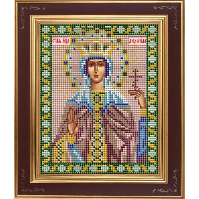 Набор для вышивания бисером GALLA COLLECTION арт.М 254 Св. Людмила 12х15 см
