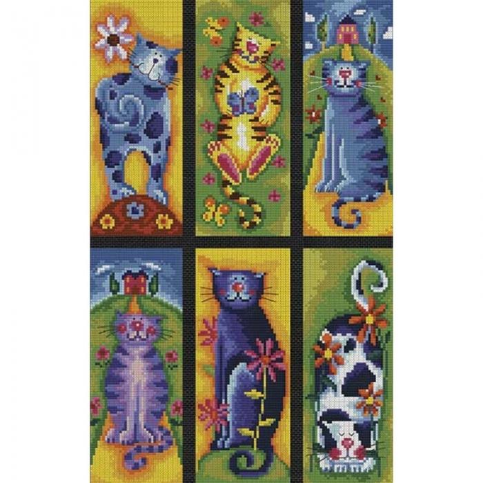 Набор для вышивания нитками БЕЛОСНЕЖКА арт.БЛ.922-14 Коллекция кошек 23х36.5см