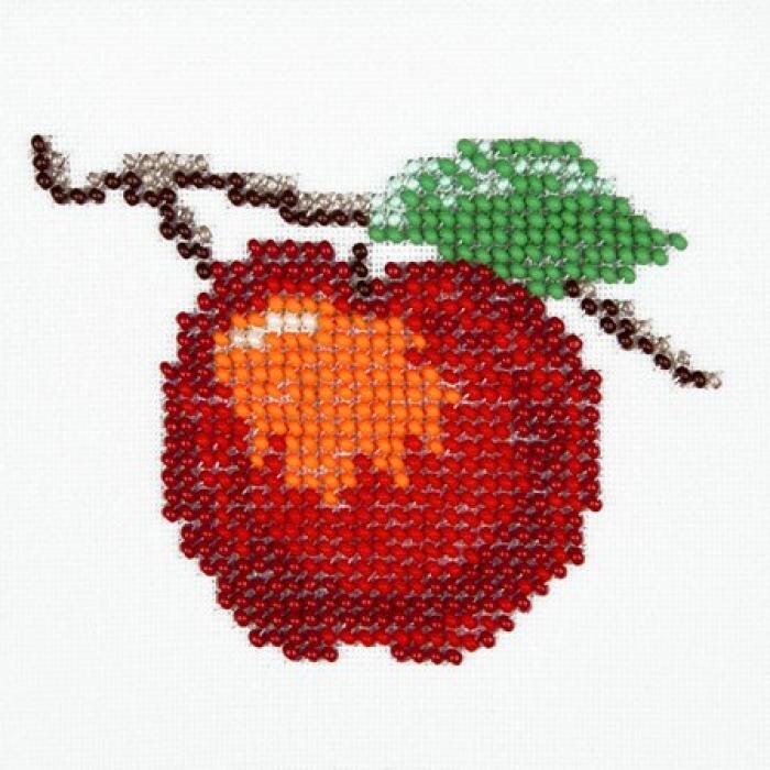 Набор для вышивания бисером LOUISE арт. L452 Яблоко 11х11 см