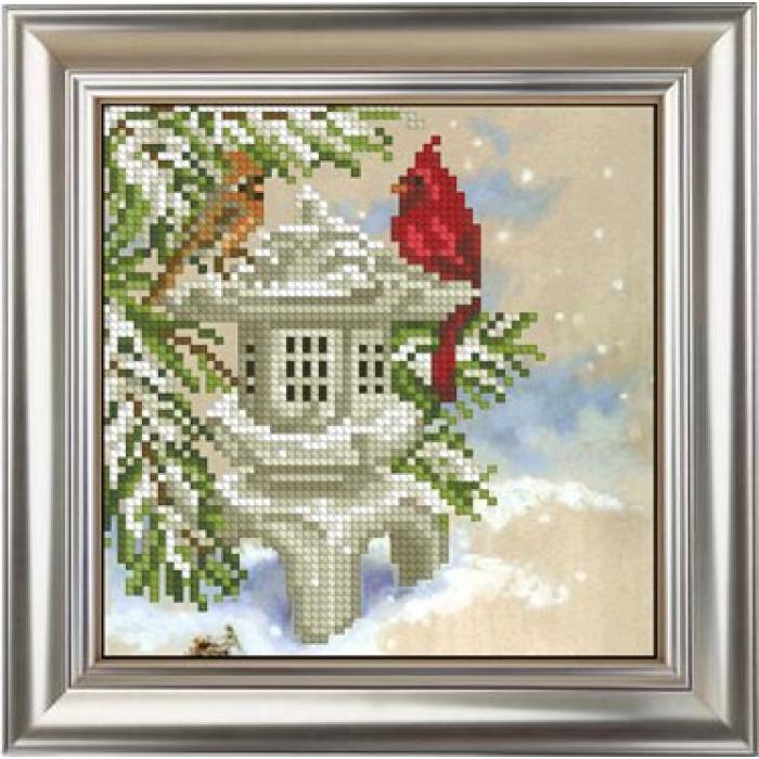 Набор для вышивания мулине КРАСА И ТВОРЧЕСТВО арт.11015 Новогодняя иллюзия 1 12,9х12,9 см