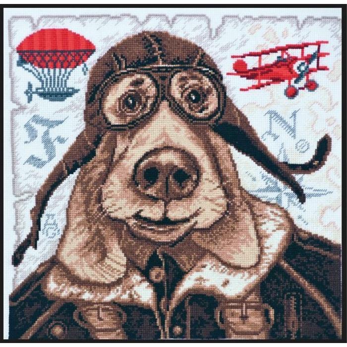 Набор для вышивания ПАЛИТРА арт.05.004 Авиатор 27х27 см
