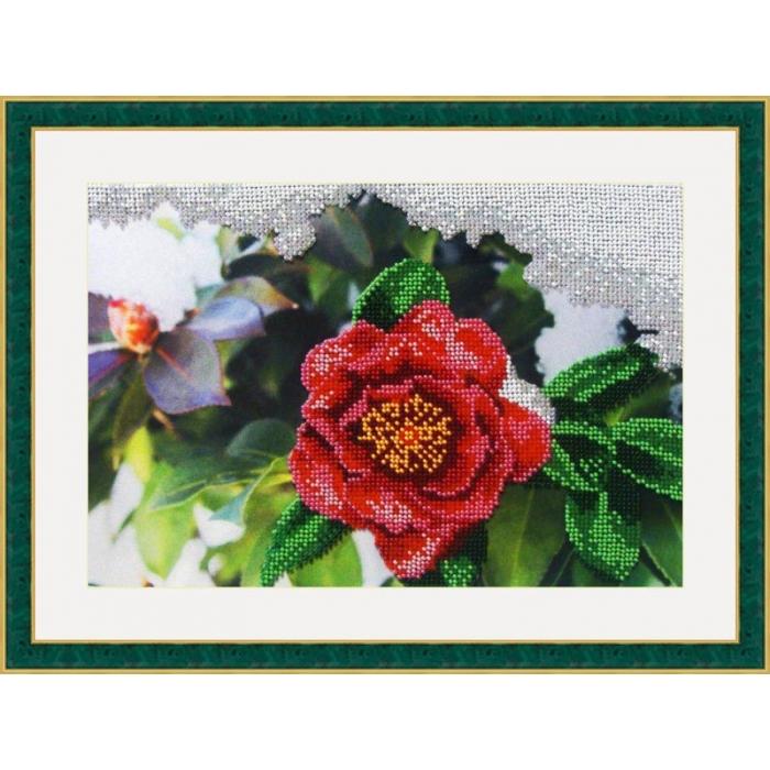 Набор для вышивания бисером GALLA COLLECTION арт.Л 317 Японская роза 27х18 см
