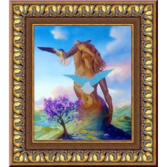 Набор для вышивания бисером ИМПЕРИЯ БИСЕРА арт.ИБК-152 Блаженство 45х52 см
