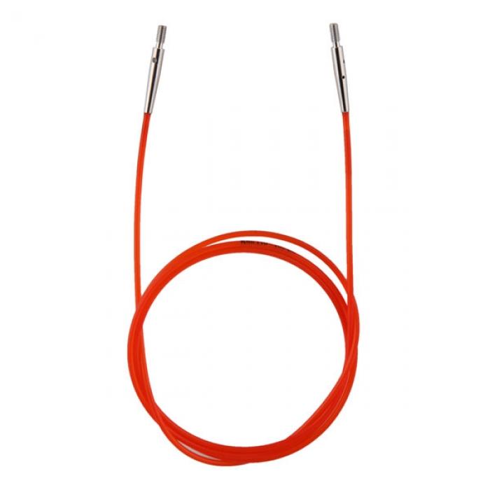 10635 Knit Pro Тросик (заглушки 2шт, ключик) для съемных спиц, длина 76см (готовая длина спиц 100см), красный