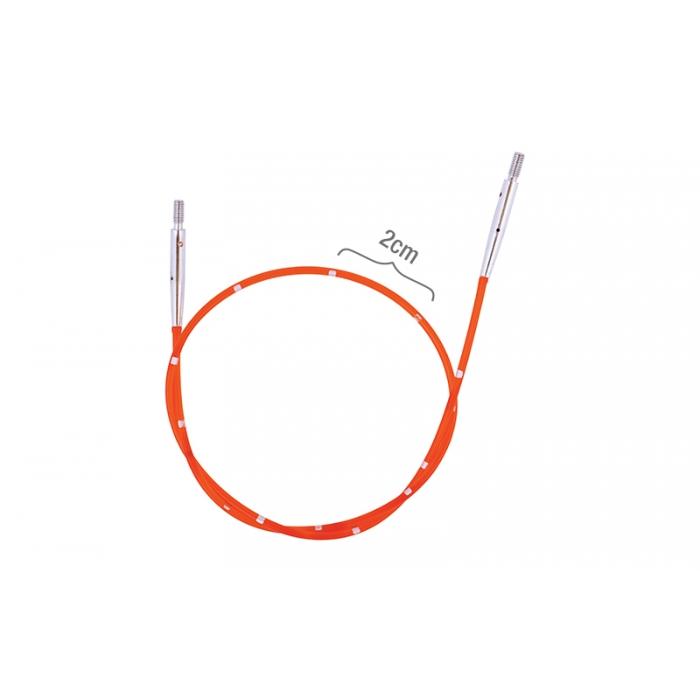 42172 Knit Pro Тросик для съемных спиц SmartStix, длина 28см (готовая длина спиц 50см), красный