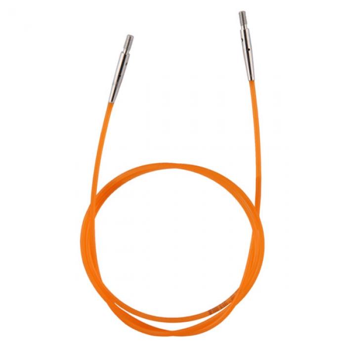 10634 Knit Pro Тросик (заглушки 2шт, ключик) для съемных спиц, длина 56см (готовая длина спиц 80см), оранжевый