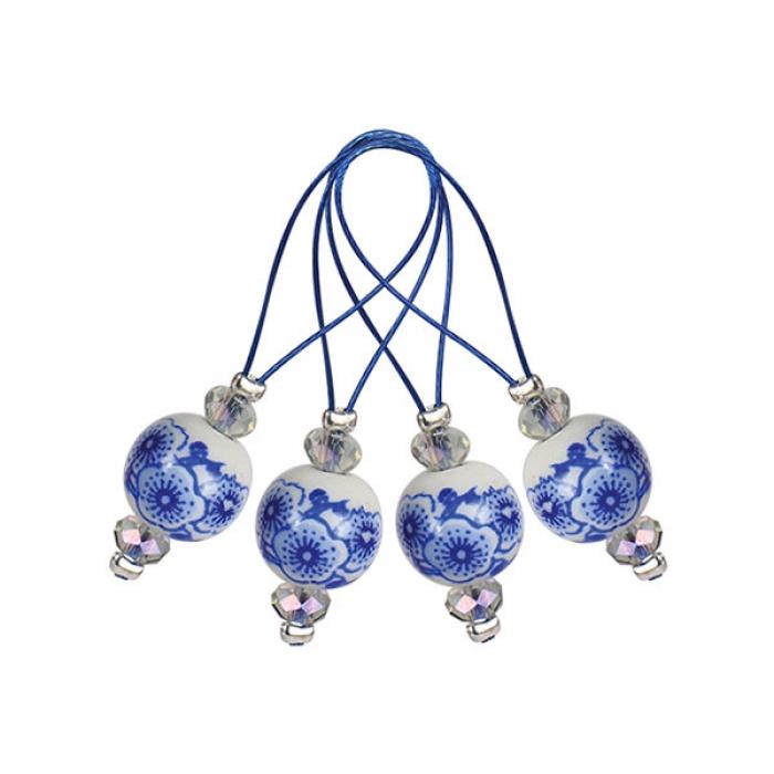 11256 Knit Pro Маркер для вязания Blooming Blue /Синее цветение/ пластик, 12шт в упаковке