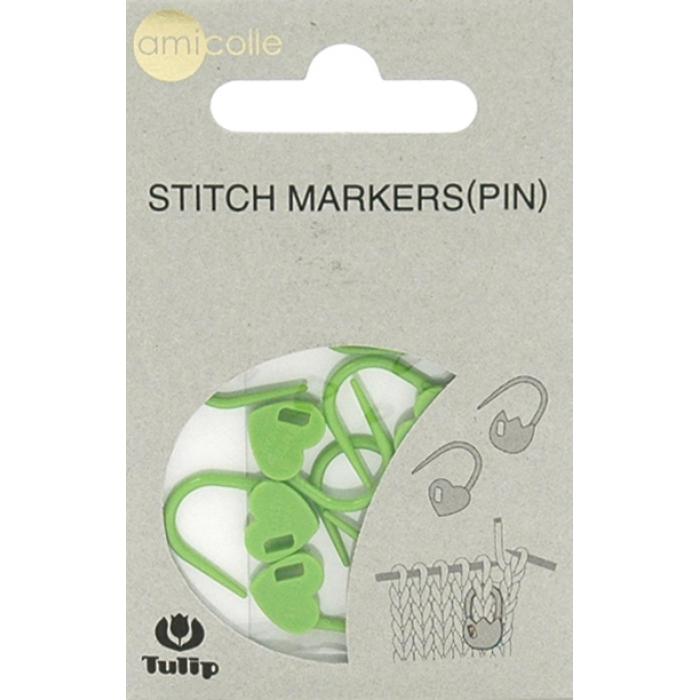 Tulip Набор маркеров для вязания Amicolle, сердце арт.AC-031E пластик, цв.зеленый уп.7шт