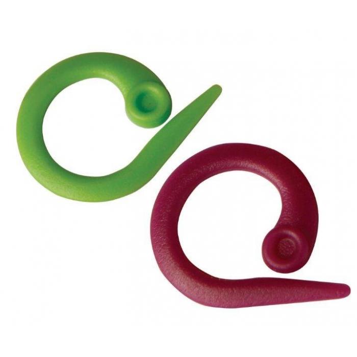 10804 Knit Pro Маркировщик для петель Круг, пластик, зеленый/красный, уп.30шт